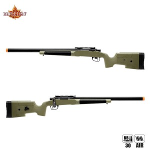 Maple Leaf MLC 338 Bolt Action Aircocking Sniper Rifle (BK/TAN/OD)
